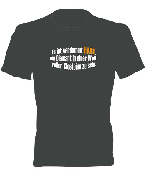 T-Shirt Motiv Anthrazit